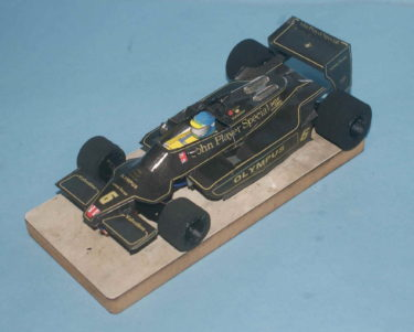 F1のペパクラでスロットカー作りました